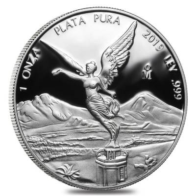 2019 1 oz Mexican Silver Libertad Coin .999 Fine Proof (In Cap)