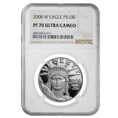 2008 W 1 oz $100 Platinum American Eagle Proof Coin NGC PF 70 UCAM