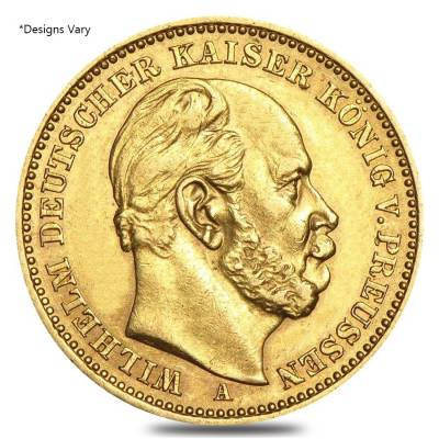 Germany Prussia 20 Marks Gold Coin (1871-1915,Random Year)