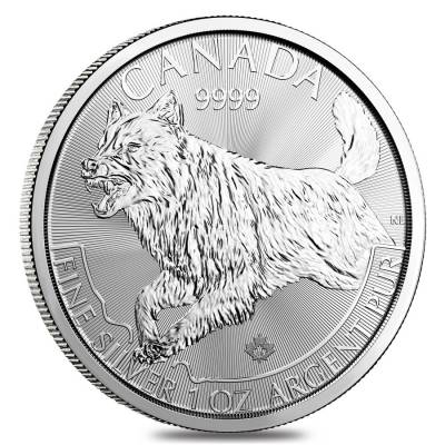 2018 1 oz Canadian Silver Wolf Predator Series $5 Coin .9999 Fine Silver