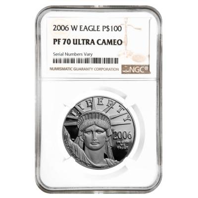2006 W 1 oz $100 Platinum American Eagle Proof Coin NGC PF 70 UCAM