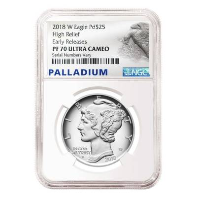 2018-W 1 oz Proof Palladium American Eagle NGC PF 70 ER