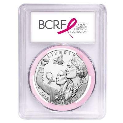 2018 P Breast Cancer Awareness Proof Silver Dollar Commemorative PCGS PF 70 First Strike