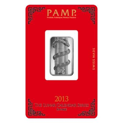 10 gram PAMP Suisse Year of the Snake Silver Bar (In Assay)