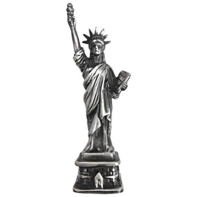 6 oz Statue of Liberty Cast Silver Bullion Exchanges .925 Silver Sterling (Antiqued)