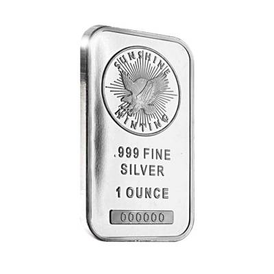 1 oz Silver Sunshine Mint Bar .999 Fine (Sealed)