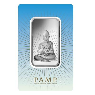 1 oz PAMP Suisse Silver Bar - Buddha (in Assay) .999 Fine