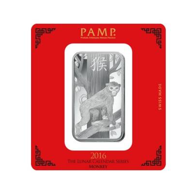 100 Gram Pamp Year Of The Monkey Silver Bar Bullion