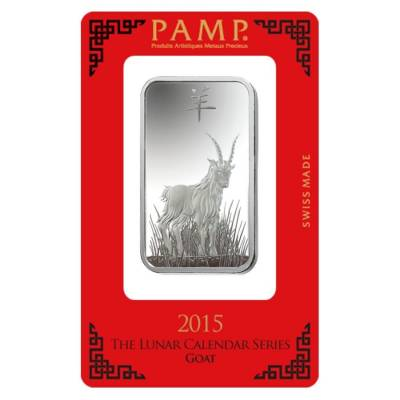 Box Of 25 1 Oz Pamp Suisse Year Of The Goat Silver Bar