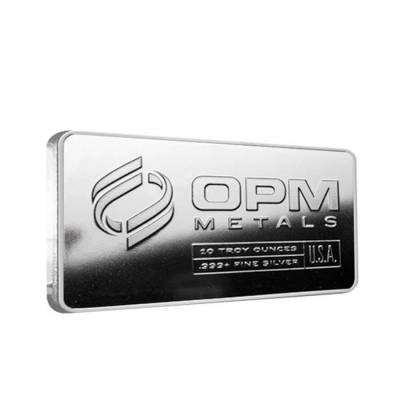 10 oz Silver OPM Bar - Ohio Precious Metals .999 Fine Bar (Sealed)