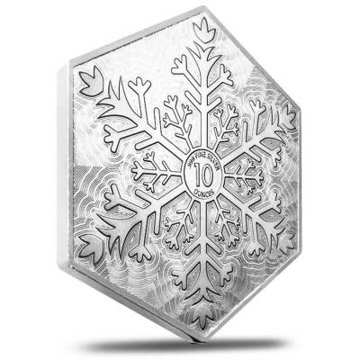 10 Oz Snowflake Hexagon Silver Bar 999 Bullion Exchanges