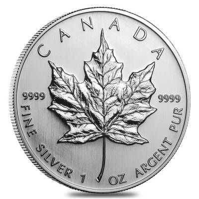 2005 1 oz Silver Canadian Maple Leaf .9999 Fine $5 Coin BU (Sealed)