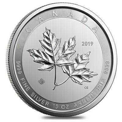 2019 10 Oz Magnificent Silver Maple Leaf Bu Bullion