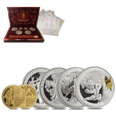2008 Beijing XXIX Olympics Commemorative Proof Gold & Silver 6-coin Set (Series III) w/Box & COA