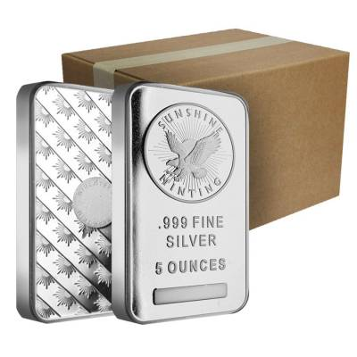 5 oz Silver Sunshine Mint Bar .999 Fine (Sealed)