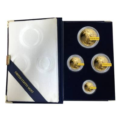Gold 1.85 oz American Eagle Proof 4-Coin Set (Random Year)