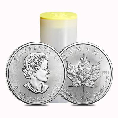 2019 1 oz Canadian Silver Maple Leaf .9999 Fine $5 Coin BU