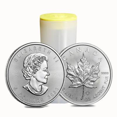 2020 1 oz Canadian Silver Maple Leaf .9999 Fine $5 Coin BU