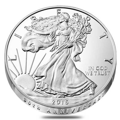 2016-W 1 oz Proof Silver American Eagle - 30th Anniversary (w/Box & COA)