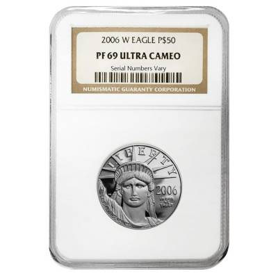2006 W 1/2 oz $50 Platinum American Eagle Proof Coin NGC PF 69 UCAM