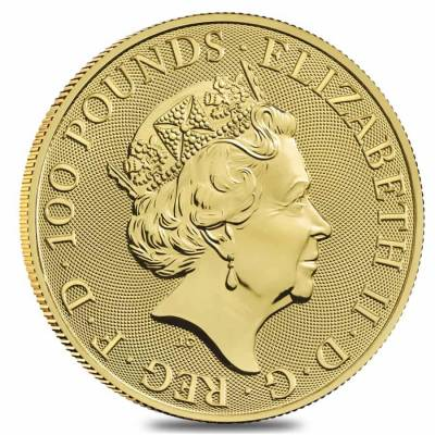 2021 Great Britain 1 oz Gold Queen's Beasts Completer Coin .9999 Fine BU