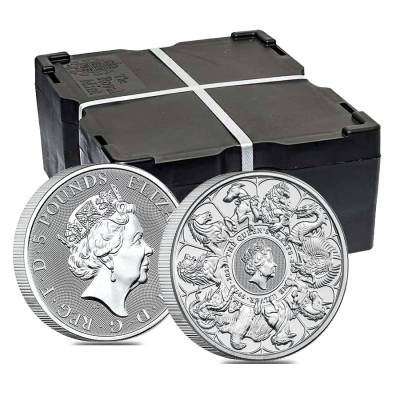 2021 Great Britain 2 oz Silver Queen's Beasts Completer Coin .9999 Fine BU