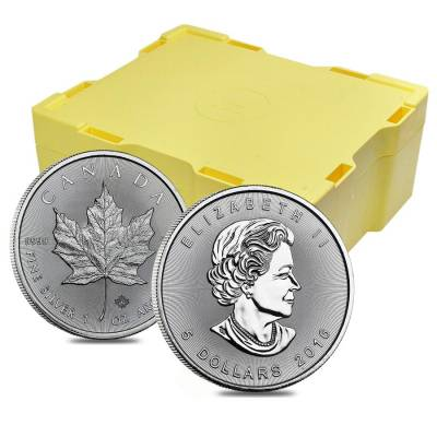 2016 1 oz Silver Canadian Maple Leaf .9999 Fine $5 Coin BU