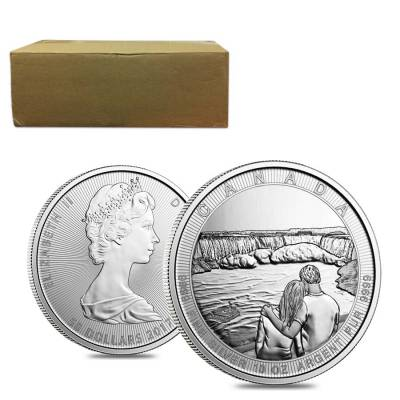 2017 10 oz Silver Canada the Great CTG Niagara Falls $50 Coin In Capsule