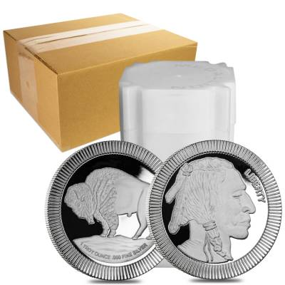 1 oz Buffalo Stackable Silver Round .999 Silver