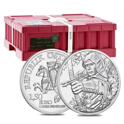 2019 1 oz Austrian Silver Robin Hood Coin BU - 825th Anniversary of the Austrian Mint