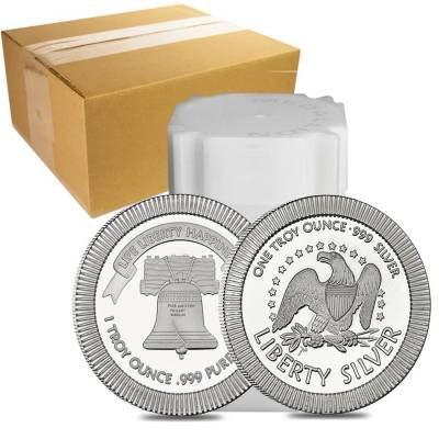 1 oz Liberty Bell Stackable Silver Round .999 Silver