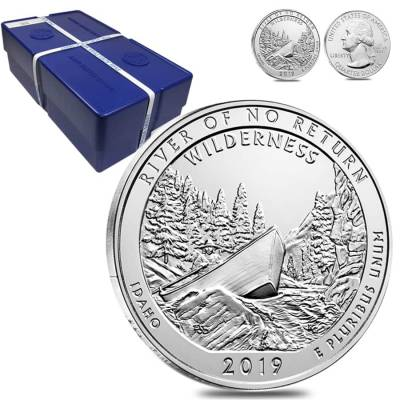 2019 5 oz Silver America the Beautiful ATB Idaho Frank Church River of No Return Wilderness Coin