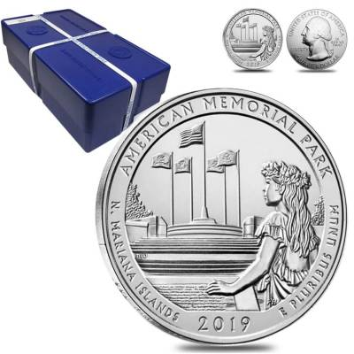 2019 5 oz Silver America the Beautiful ATB Northern Mariana Islands American Memorial Park Coin