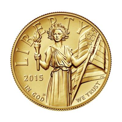 2015 W 1 oz $100 American Liberty High Relief Gold Coin (w/Box and COA)