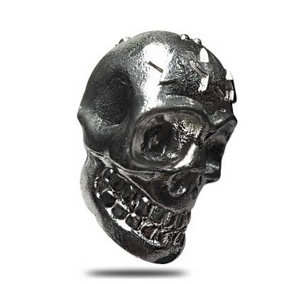 2 oz Skull Cast Silver Bullion Exchanges .999 Fine Silver