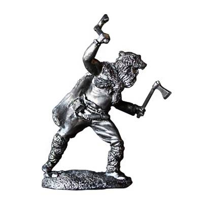 Antiqued Silver Art of War Series Warriors (5-Piece Set)