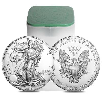 Roll of 20 - 2015 1 oz Silver American Eagle $1 Coin BU (Lot, Tube of 20)