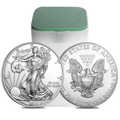 Roll of 20 - 2016 1 oz Silver American Eagle $1 Coin BU (Lot, Tube of 20)