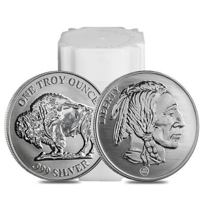 Buffalo Design Reverse Proof Republic Metals 1 oz. .999 Fine Silver Round (RMC)