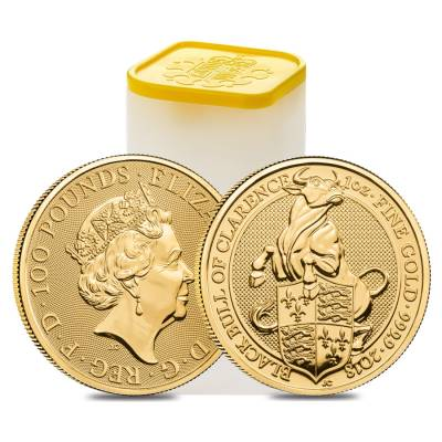 2018 Great Britain 1 oz Gold Queen's Beast (Black Bull) Coin .9999 Fine BU