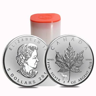 2018 1 oz Silver Canadian Maple Leaf Lunar Dog Privy .9999 Fine $5 Coin BU