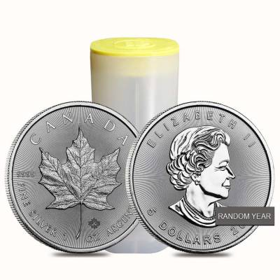 1 oz Silver Canadian Maple Leaf BU (Random Year)