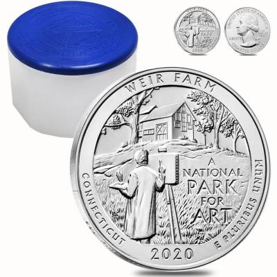 2020 5 oz Silver America the Beautiful ATB Connecticut Weir Farm National Historic Site Coin