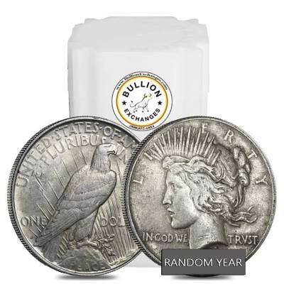 Roll of 20 - 1922-1935 Peace Silver Dollar VG-XF (Random Year)