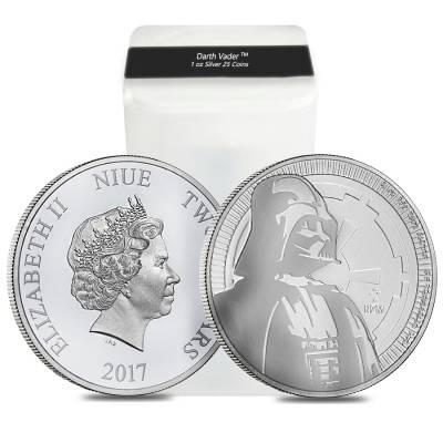 2017 1 oz Niue Silver $2 Star Wars Darth Vader BU