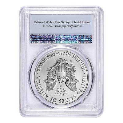 2016-W 1 oz Burnished Silver American Eagle PCGS SP 69 First Strike - 30th Anniversary