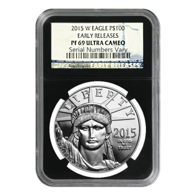 2015-W 1 oz Platinum American Eagle Proof Coin NGC PF 69 UCAM Early Releases