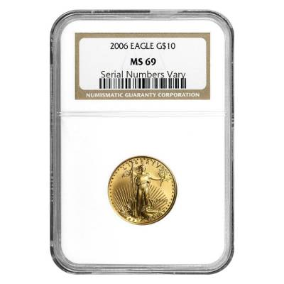 2006 1/4 oz $10 Gold American Eagle NGC MS 69