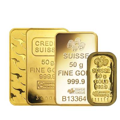 50 Gram Generic Gold Bar .999+ Fine (IRA-approved, Secondary Market)