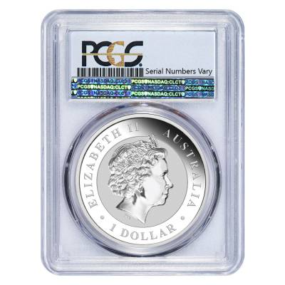 2017 1 oz Silver Australian Kookaburra Shark Privy Perth Mint PCGS MS 70 First Strike (Shark Label)